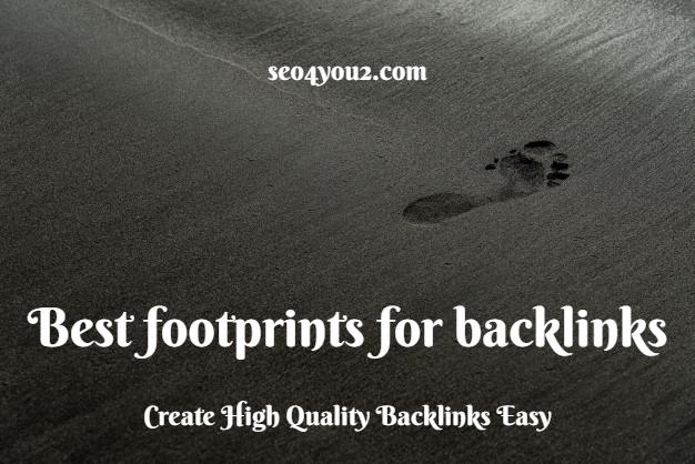 best footprints for backlinks 2020
